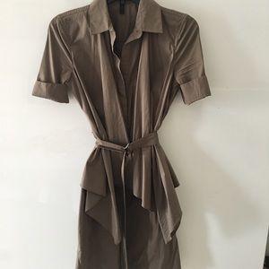 BCBGMaxazria brown belted dress